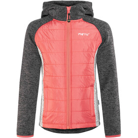 Meru Prag Knitted Fleece & Padding Jacket Kids Carbon/Pink